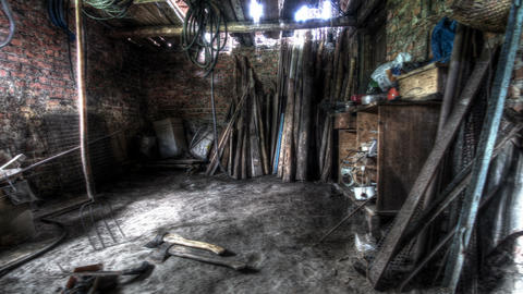 4k. In The Old Barn. HDR Time Lapse Stock Video Footage