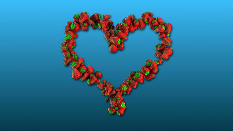 Juicy Love - Strawberry Heart stock footage