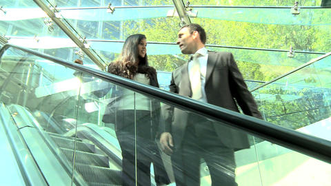 Smart young business people meeting in modern workplace Stock Video Footage