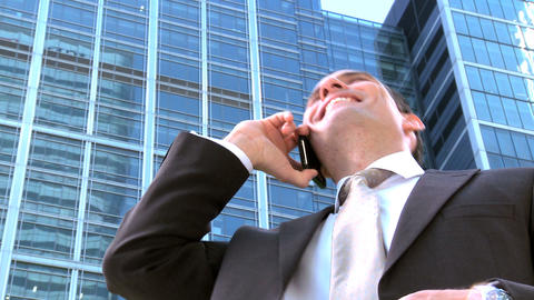 Ambitious young city businessman working on a... Stock Video Footage