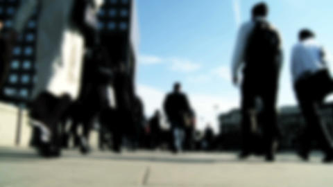 Busy city commuters Stock Video Footage