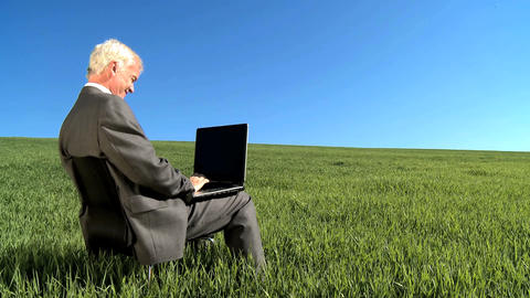 Businessman using laptop Stock Video Footage