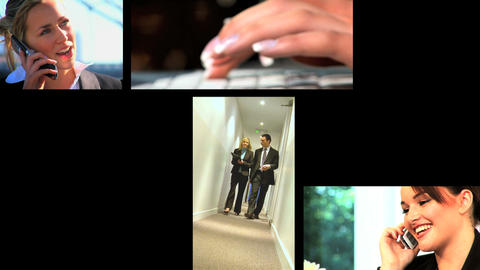 11690609BUSINESSMONTAGEEX3 Stock Video Footage