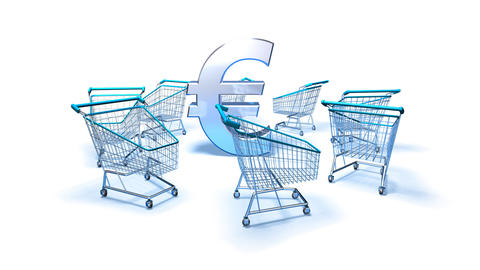 shopping cart euro 2 Animation