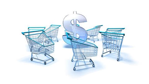 shopping cart dollar 2 Animation