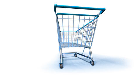 shopping cart 1b Stock Video Footage