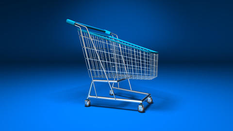shopping cart 2b Stock Video Footage