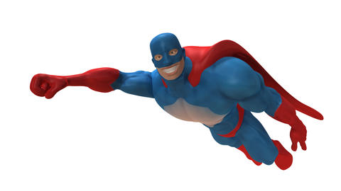 superhero animated Stock Video Footage