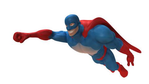 superhero animated Stock Video Footage
