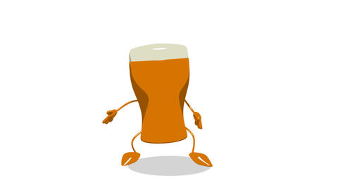 Toon Beer Jump 1 stock footage