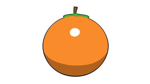 toon orange Stock Video Footage