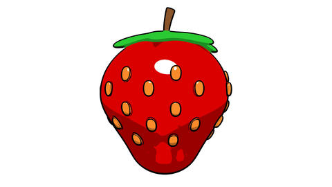 toon strawberry Stock Video Footage