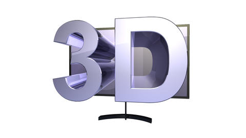 tv 3d Stock Video Footage