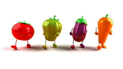 vegetables walk1 Animation