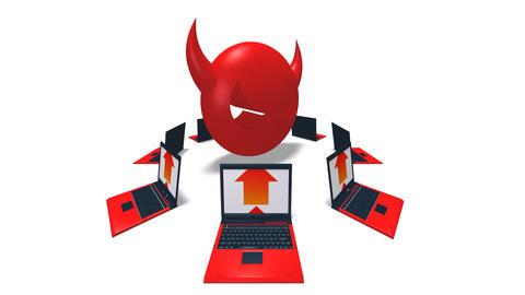 virus laptop HD Stock Video Footage