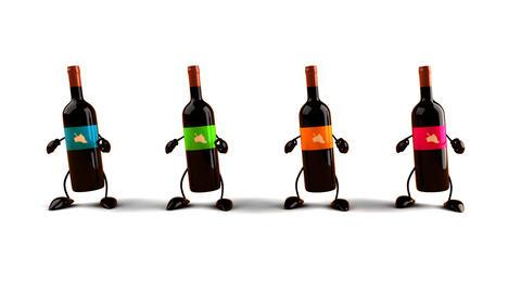 wines dance CG動画素材