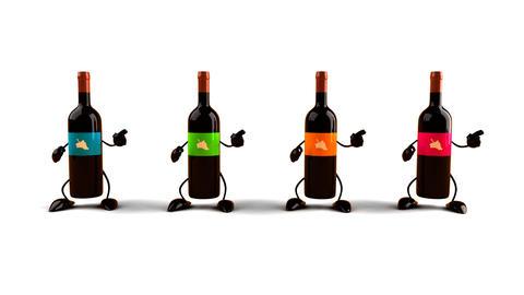 wines dance Stock Video Footage