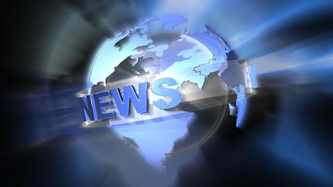 world news 2b Stock Video Footage