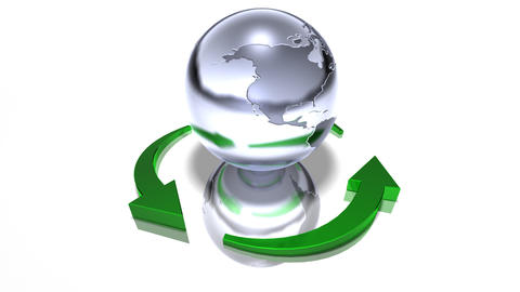 world recycle Stock Video Footage