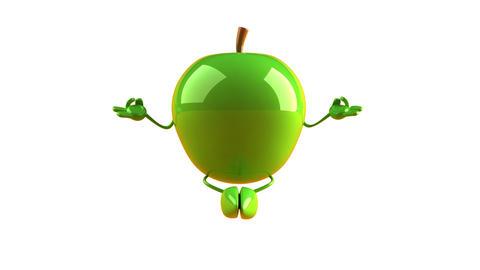 yoga apple HD Stock Video Footage
