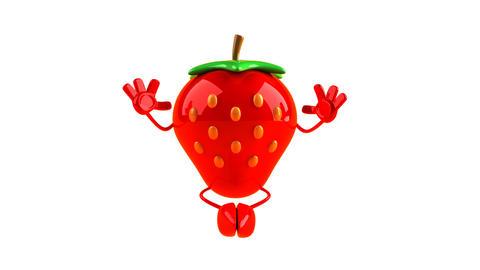 yoga strawberry HD Stock Video Footage