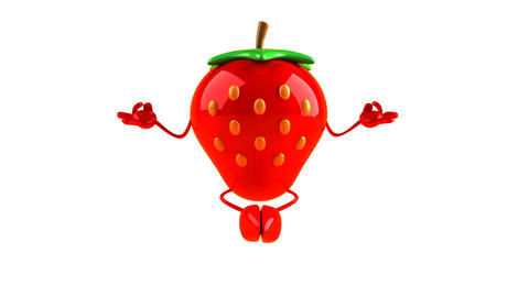 yoga strawberry HD Animation