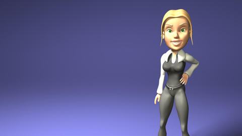 blond girl Animation