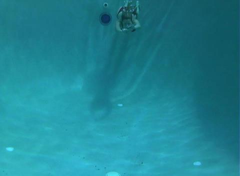 Sexy, Bikini-clad Blonde Underwater-1 Stock Video Footage