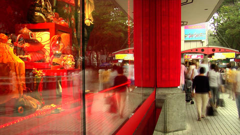 Orchard Road Shopping Stock Video Footage