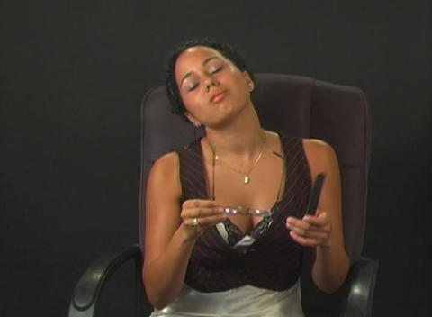 Beautiful Young Seductive Businesswoman Stock Video Footage