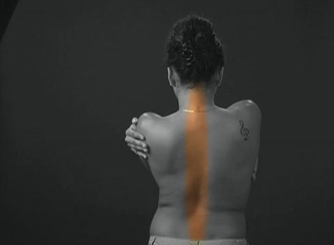 Beautiful Young Woman's Bare Back stock footage