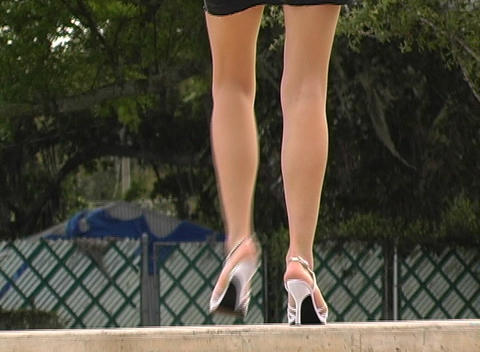 Luscious Female Legs Stock Video Footage
