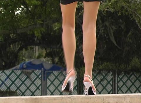 Luscious Female Legs Footage