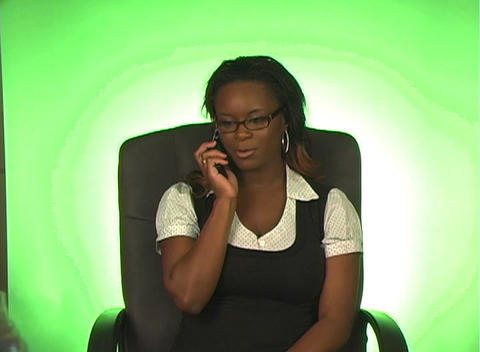 Beautiful Businesswoman with Cell Phone (b) Stock Video Footage