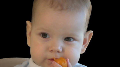 Baby eating Stock Video Footage