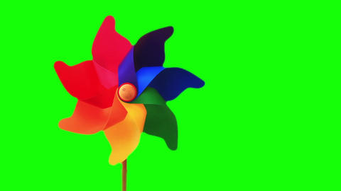 Pinwheel Toy stock footage