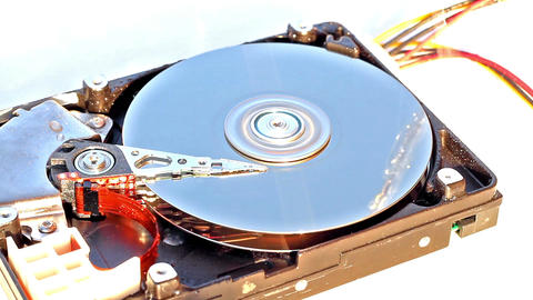 Demages hard disk drive Stock Video Footage