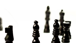 Chess set's march Stock Video Footage