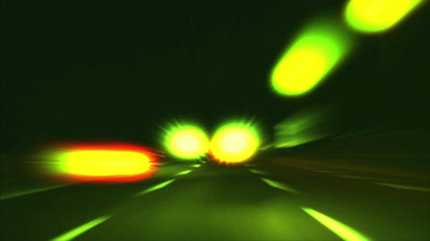 highway abstract night 02 Stock Video Footage