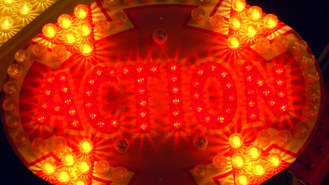 light decoration action Stock Video Footage