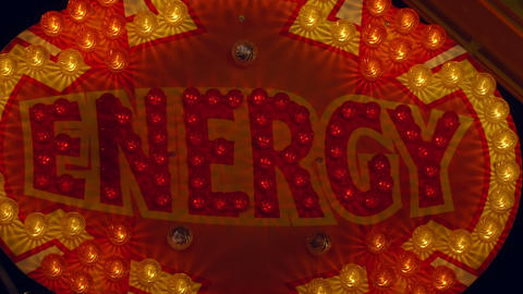 light decoration energy Stock Video Footage