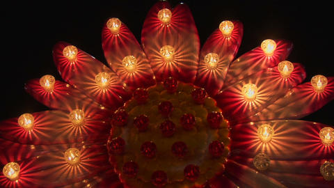light decoration flower Stock Video Footage