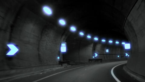 tunnel timelapse 05 Stock Video Footage