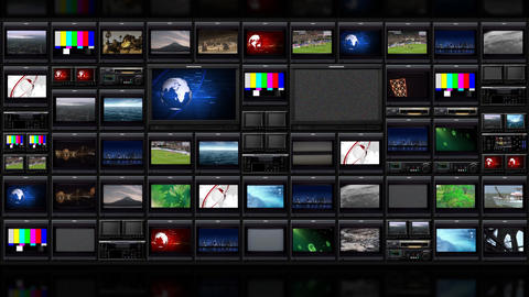 TV Wall _051 stock footage