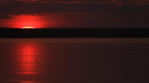 River Sunrise Stock Video Footage