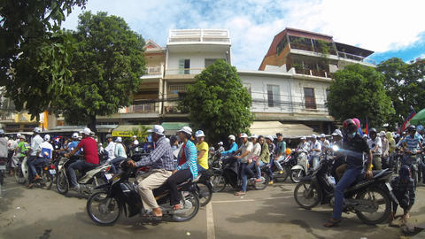 General election 2013 rally in Phnom Penh Cambodia Stock Video Footage