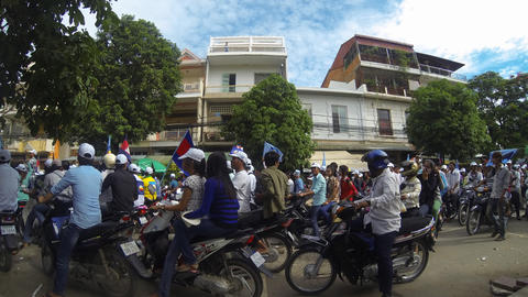 General Election 2013 Rally In Phnom Penh Cambodia stock footage