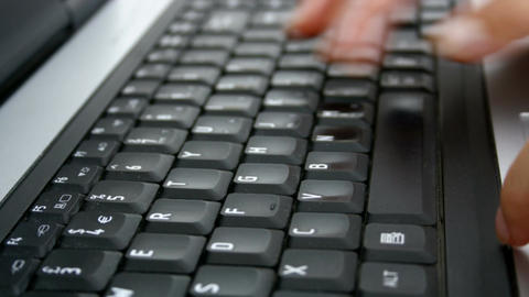 Typing on keyboard Stock Video Footage