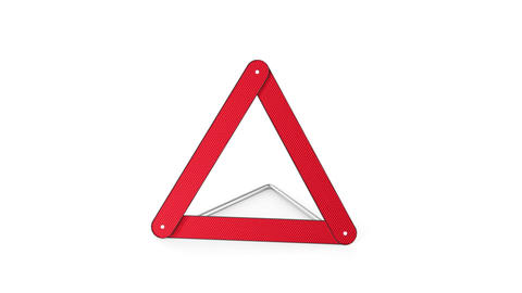 Warning triangle Stock Video Footage