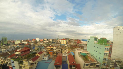 Phnom Penh cityscape timelapse Footage